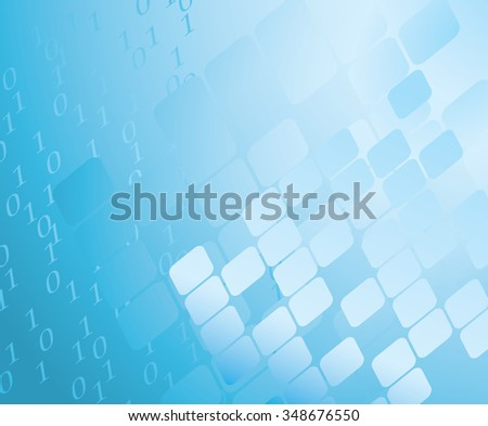 abstract blue background with figures - stock photo