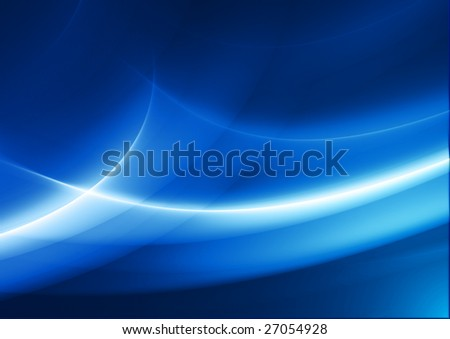 abstract blue background with flowing curves