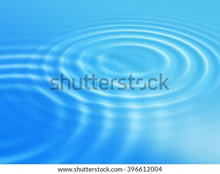 Abstract blue background with round concentric ripples - stock photo