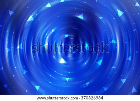 abstract blue background with scintillating circles and gloss
