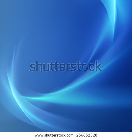 abstract blue background with smooth glowing lines