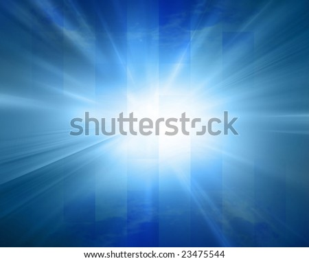 abstract blue background with some cubic features