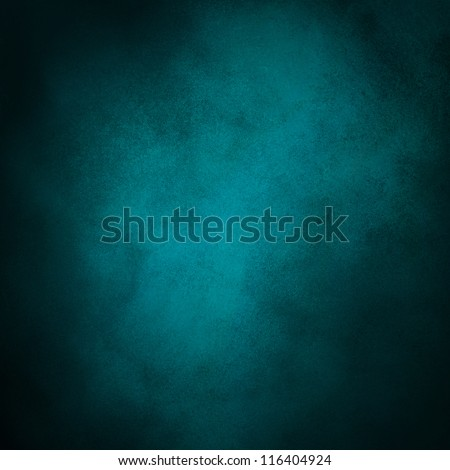 abstract blue background with teal black vintage grunge background texture design with elegant antique paint on wall illustration for luxury paper, or web background templates, old background paint - stock photo