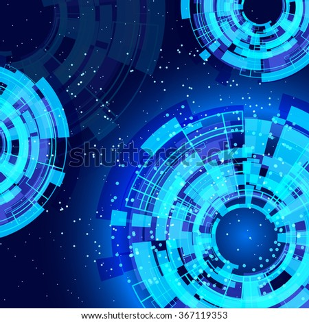 abstract blue background with technology design elements.