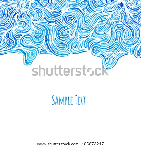 Abstract blue background with wave pattern, illustration