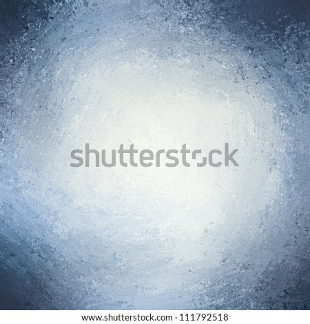 abstract blue background with white center spotlight for text with rough vintage texture on border or frame on blue pastel paper - stock photo