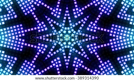 Abstract blue block lights background - stock photo