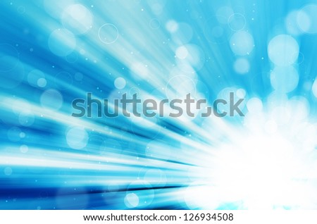 abstract blue bokeh and circles background - stock photo