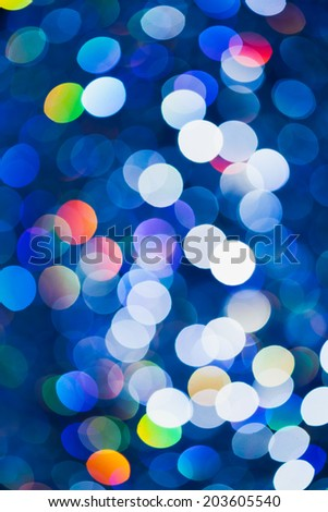 abstract blue bokeh background - stock photo