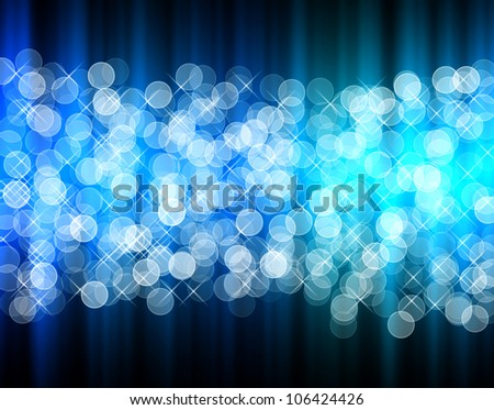 abstract  blue bokeh beautiful  background for design