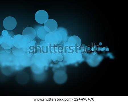 Abstract blue bokeh circles - stock photo