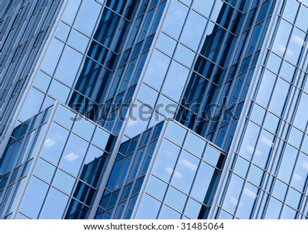 abstract blue building