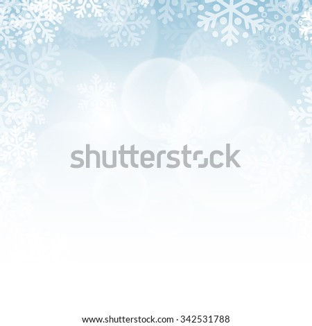 Abstract blue christmas background with snowflakes - stock photo
