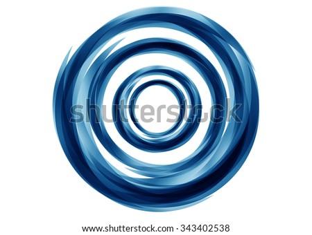 Abstract Blue Circles Design - stock photo
