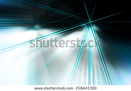 abstract  blue  color background with motion  ray