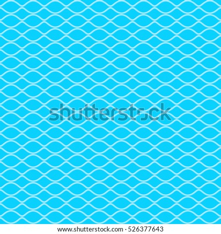 Abstract Blue color Rhythm and Wave Pattern line repeat, 3d illustration and Rendering textured background.