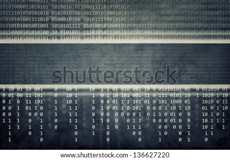 Abstract blue computer technology background - stock photo