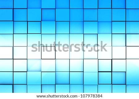 Abstract Blue Cubes