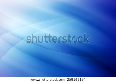 abstract blue curve background - stock photo