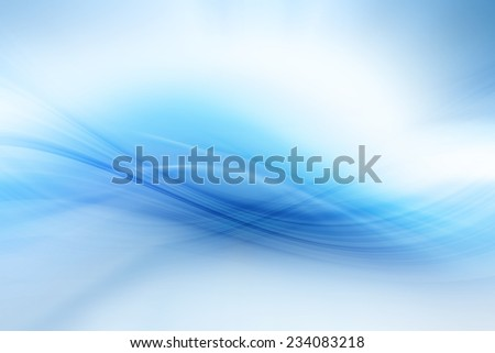 Abstract Blue Curves Background - stock photo