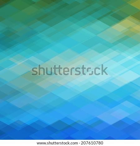 Abstract Blue Diamond Geometrical Background - stock photo