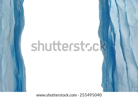 Abstract  Blue Fabric  Chiffon Picture Frame Design Element Background Texture - stock photo