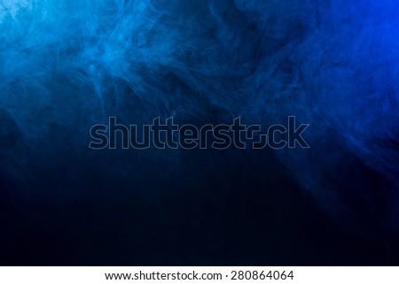 Abstract blue Fog/Smoke Texture  - stock photo