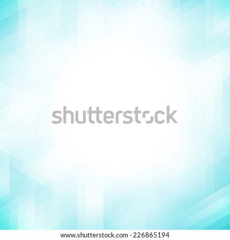 Abstract blue geometric pixel pattern background with copy space - stock photo