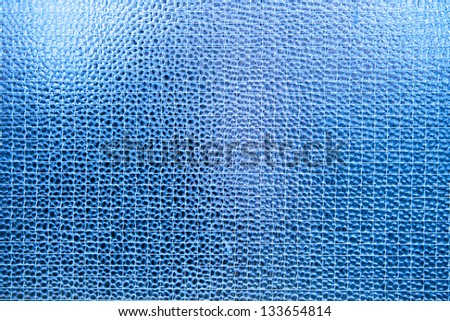 Abstract blue glass texture for your backgrounds - stock photo