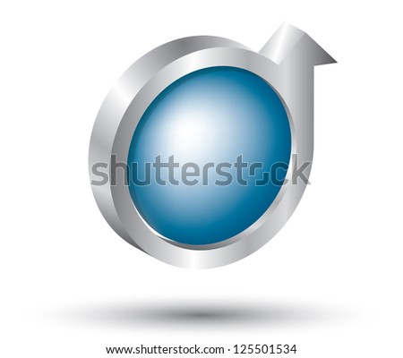 Abstract blue globe with arrows. Business logo - stock photo