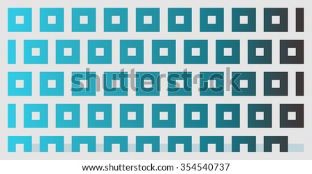 abstract blue gradient square shapes background
