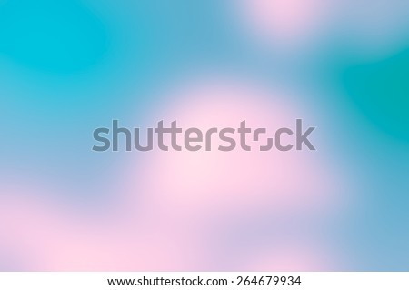 Abstract blue, green and pink blurred background - stock photo