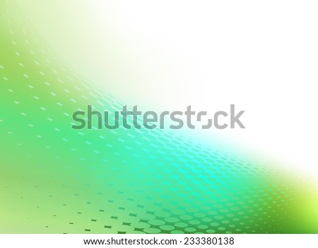 Abstract blue green background template with swirl of dots and plenty of copy space - stock photo