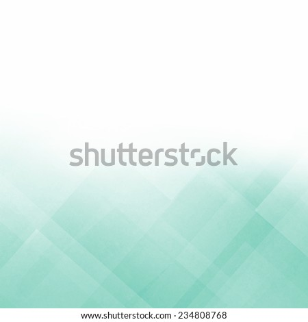 abstract blue green background with white border and diagonal stripes and diamond block shaped pattern design - stock photo
