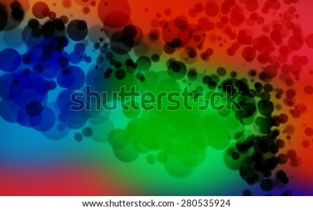 abstract blue green black red background, smooth gradient texture color with wonderful twinkling bokeh - stock photo