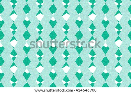 Abstract  blue green  line crossing pattern texture background. Graphic art design. - stock photo