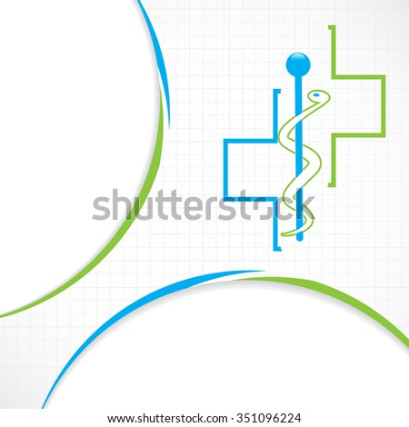Abstract blue grid medical background  - stock photo