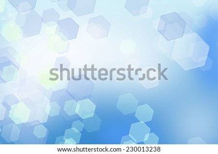 Abstract blue honeycomb background with bokeh effect. From series backgrounds and textures - stock photo