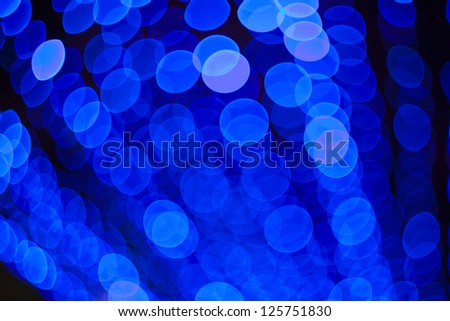 Abstract blue lights background - stock photo