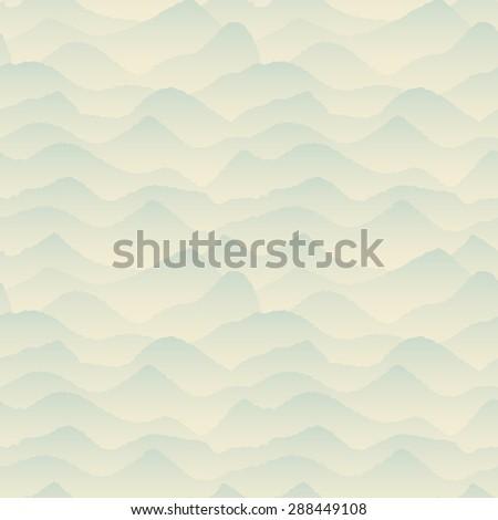 Abstract Blue, Mountain Seamless Pattern. Raster version - stock photo