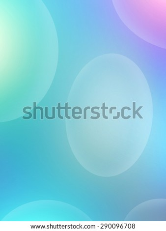 Abstract blue pastel artwork, science theme - stock photo