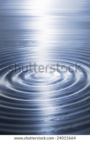 Abstract blue ripple background