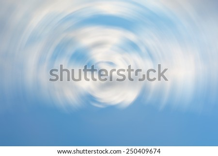 Abstract blue sky background rotate. - stock photo