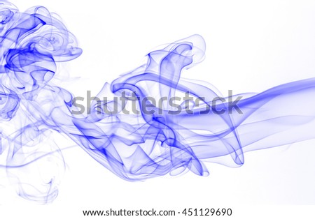 Abstract blue smoke background. - stock photo