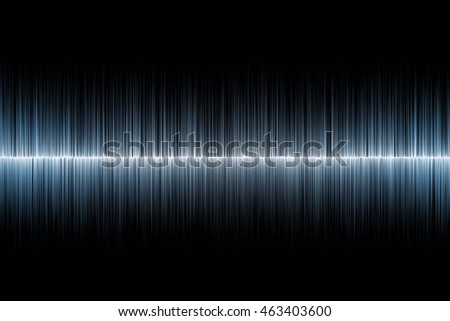 Abstract blue sound equalizer wave on black background.