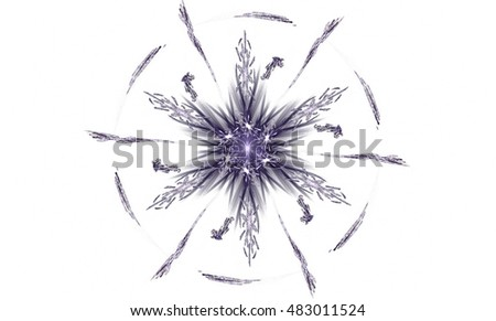 Abstract blue star on a white background