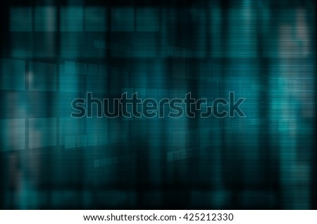 abstract blue tech design background - stock photo
