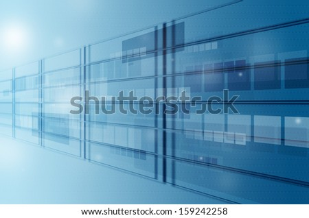 abstract blue tech motion background
