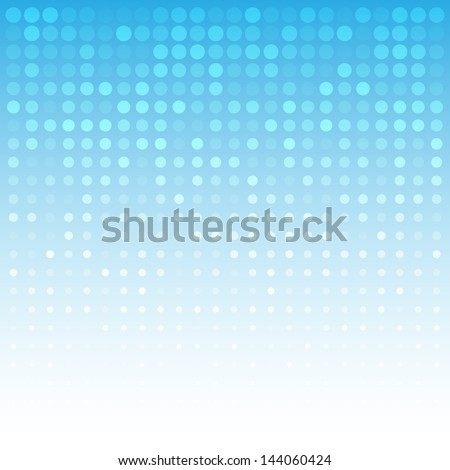 Abstract Blue Technology Background, raster illustration - stock photo