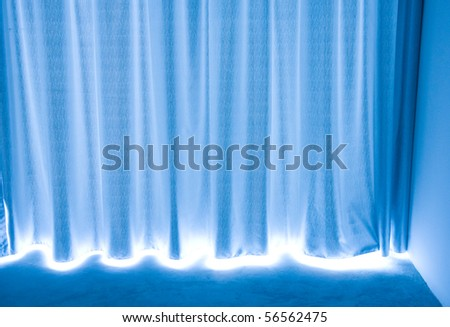 Abstract blue texture of drapery and linens. - stock photo